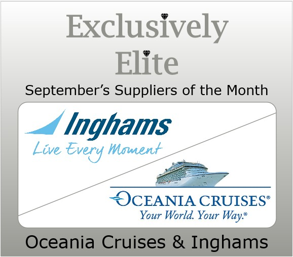 September's Suppliers of the Month are Oceania Cruises and Inghams